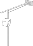 Toilet armrest with supporting legs